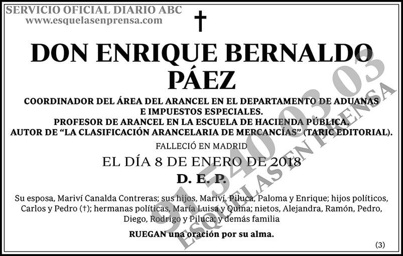 Enrique Bernaldo Páez